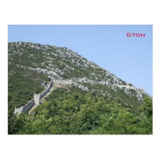 Ston -クロアチアの壁 はがき