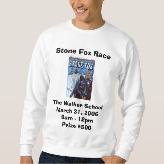 stonefox、石のキツネの競争、歩行者SchoolMarc… スウェットシャツ