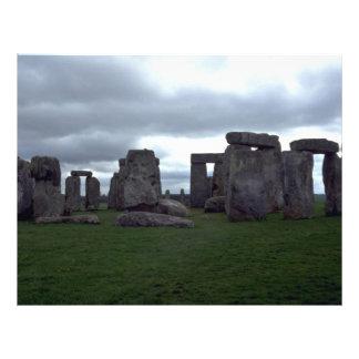 Stonehengeのイギリスの造岩 チラシ