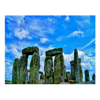 stonehengeのイギリス記念碑の石の円 ポストカード