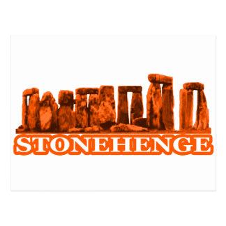 Stonehengeのオレンジ白博物館のZazzleのギフト ポストカード