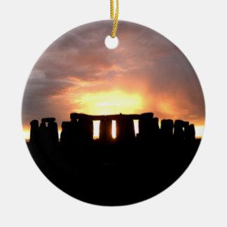 Stonehengeの冬至のオーナメント セラミックオーナメント