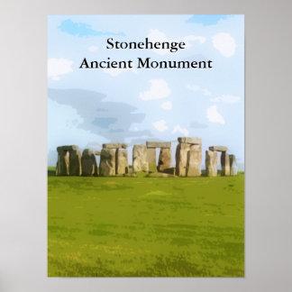 Stonehengeの古代記念碑 ポスター