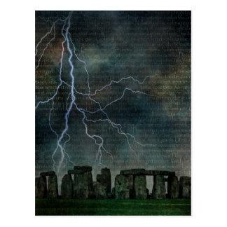 Stonehengeの嵐 ポストカード