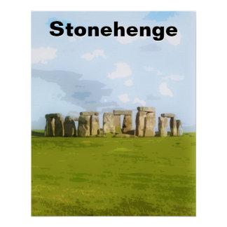 Stonehengeの有史以前の絵 ポスター