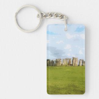 Stonehengeの石造りの円記念碑 キーホルダー