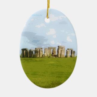 Stonehengeの石造りの円記念碑 セラミックオーナメント