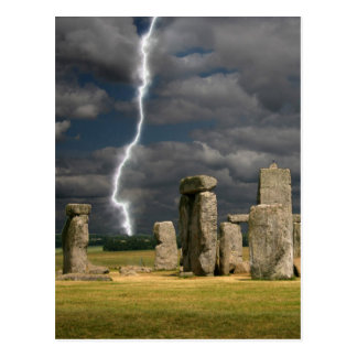 Stonehengeの稲妻 ポストカード