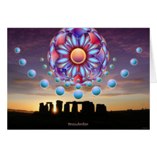 Stonehengeの空白のなカード カード