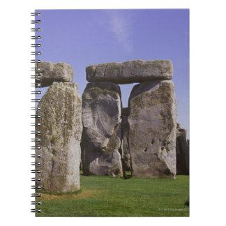Stonehengeの考古学的な場所、ロンドン、イギリス ノートブック