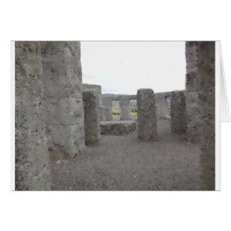 Stonehengeの色彩の鮮やかな反射 カード