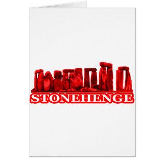 Stonehengeの赤いtransp博物館のZazzleのギフト カード