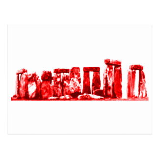 Stonehengeの赤博物館のZazzleのギフト ポストカード