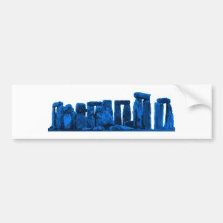 Stonehengeの青博物館のZazzleのギフト バンパーステッカー