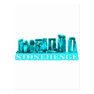 Stonehengeの青緑色の白博物館のZazzleのギフト ポストカード