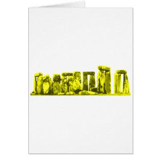 Stonehengeの黄色博物館のZazzleのギフト カード