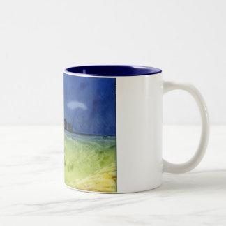 Stonehenge上の嵐 ツートーンマグカップ