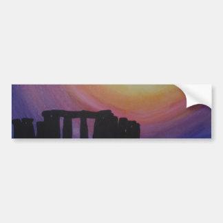 Stonehenge上の日が差すこと バンパーステッカー