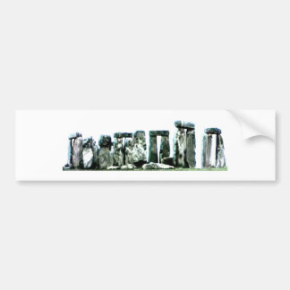 Stonehenge博物館のZazzleのギフト バンパーステッカー