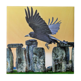 Stonehenge及びミヤマガラスの古代Corvid恋人のギフト タイル