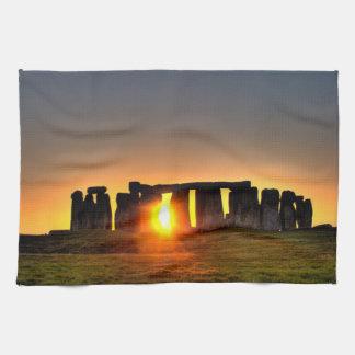 Stonehenge色の写真 キッチンタオル