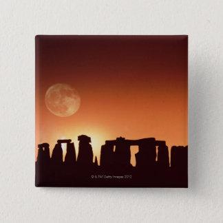 Stonehenge、イギリス3 5.1cm 正方形バッジ