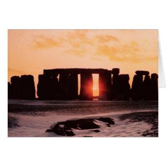 Stonehenge、冬至 カード