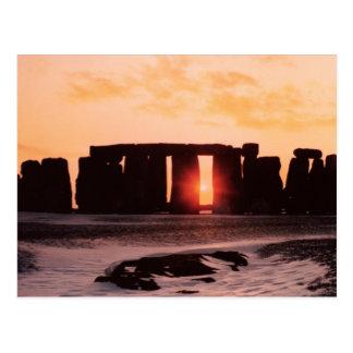 Stonehenge、冬至 ポストカード