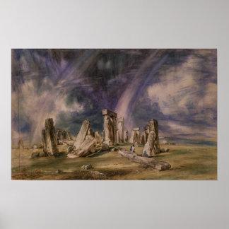 Stonehenge 1835年 ポスター