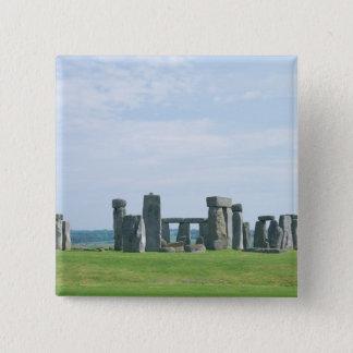 Stonehenge 2 5.1cm 正方形バッジ