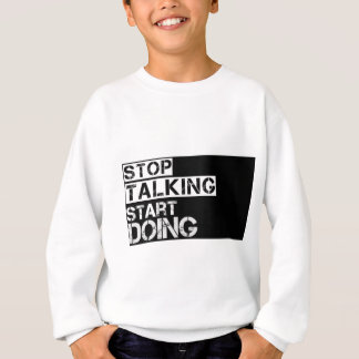 Stop_talking スウェットシャツ