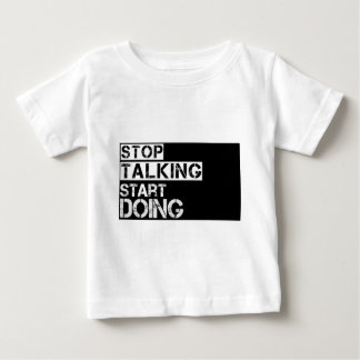 Stop_talking ベビーTシャツ