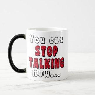 Stop Talking   Mean Sassy Insult Humor Joke Quote マジックマグカップ