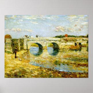 Stour上のChilde Hassam橋 ポスター