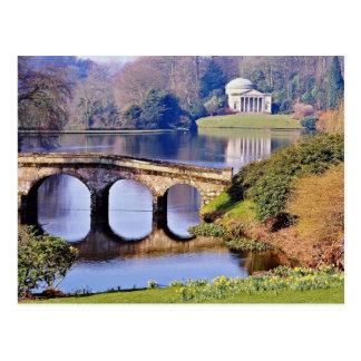 Stourheadの庭、ウィルトシャー花 ポストカード