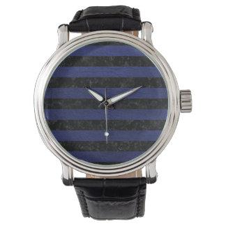 STR2 BK-MRBL BL-LTHR 腕時計