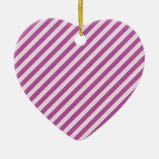 [STR-PU-1]ストライプのな紫色および白いキャンディ・ケーン セラミックオーナメント