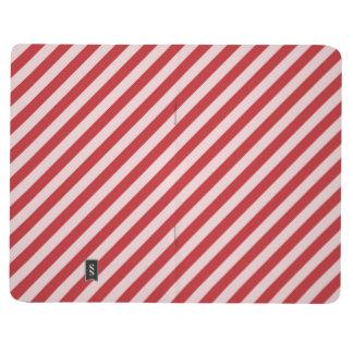 [STR-RD-1]ストライプのな赤と白のキャンディ・ケーン ポケットジャーナル