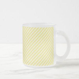 [STR-YE-01]ストライプのな黄色いキャンディ・ケーン フロストグラスマグカップ