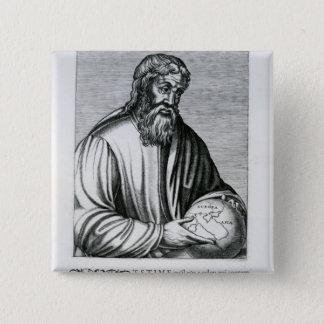 StraboのアンドレThevetからのイラストレーション 5.1cm 正方形バッジ