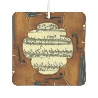 StradivariのバイオリンのBach Partita音楽原稿 カーエアーフレッシュナー