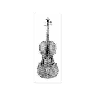 Stradivariusのバイオリンによってエッチングされる一見の再生 ラバースタンプ