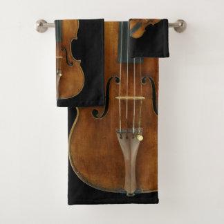 Stradivariusのバイオリンのクインテット バスタオルセット