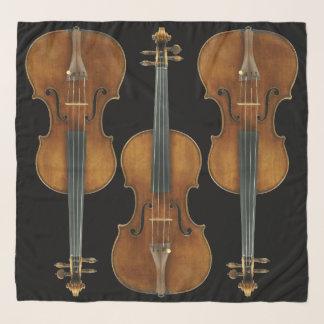 Stradivariusのバイオリンのトリオは背景色を選びます スカーフ