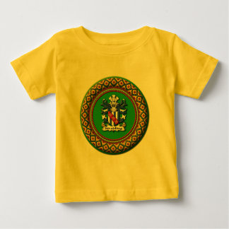 Stradlingの家紋の乳児のTシャツ ベビーTシャツ