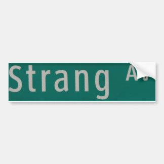 Strang Aveの道路標識 バンパーステッカー