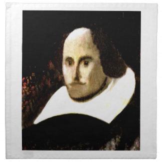StratfordにAvonシェークスピアのポートレートのjGibne ナプキンクロス