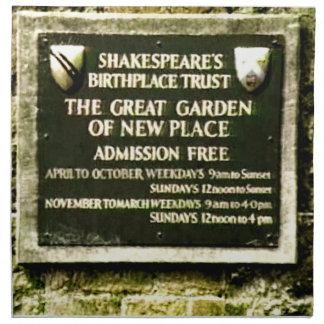 StratfordにAvonシェークスピアの誕生のjGibney ナプキンクロス