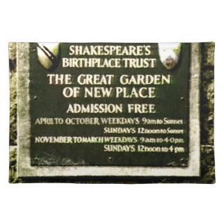 StratfordにAvonシェークスピアの誕生のjGibney ランチョンマット