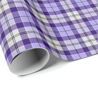 Strathclydeスコットランド地区のタータンチェックの紫色の格子縞 包み紙